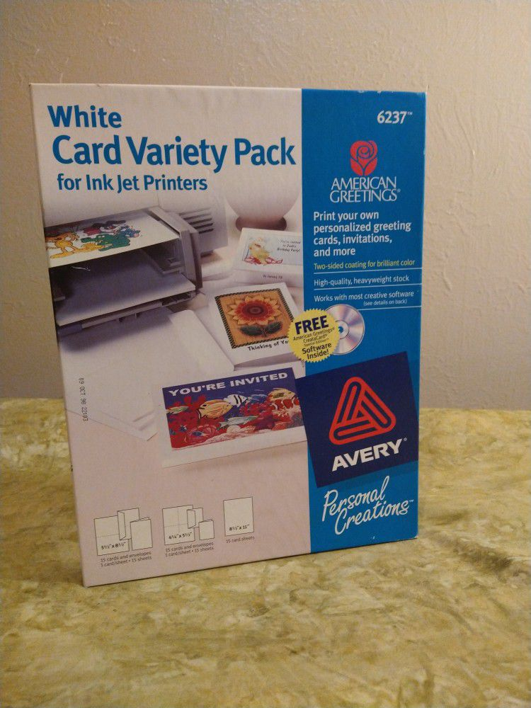 Avery - White Card For Ink Jet Printers