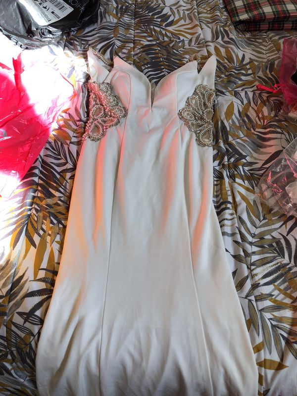 Fashion nova Offwhite imperial beading dress for Sale in Phoenix, AZ -  OfferUp