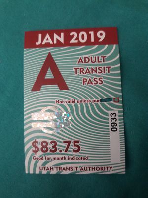 Monthly bus pass for Sale in Salt Lake City, UT