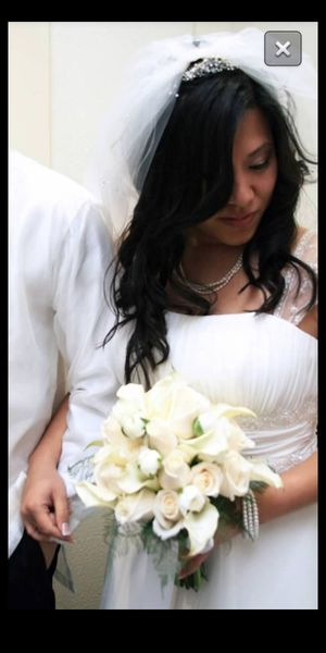 (Grecian) Wedding Dress and Veil for Sale in Huntington Beach, CA