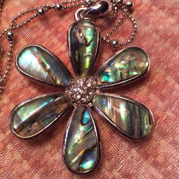 Lia Sophia Flower Necklace Pendant