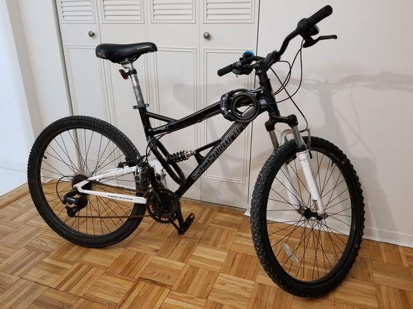 402bac3dcf4 Schwinn S-25 Dual suspension mountain bike + Kryptonite combination lock
