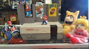 Original Retro Nintendo Console with 3 Mario Games for Sale in Pasadena, TX