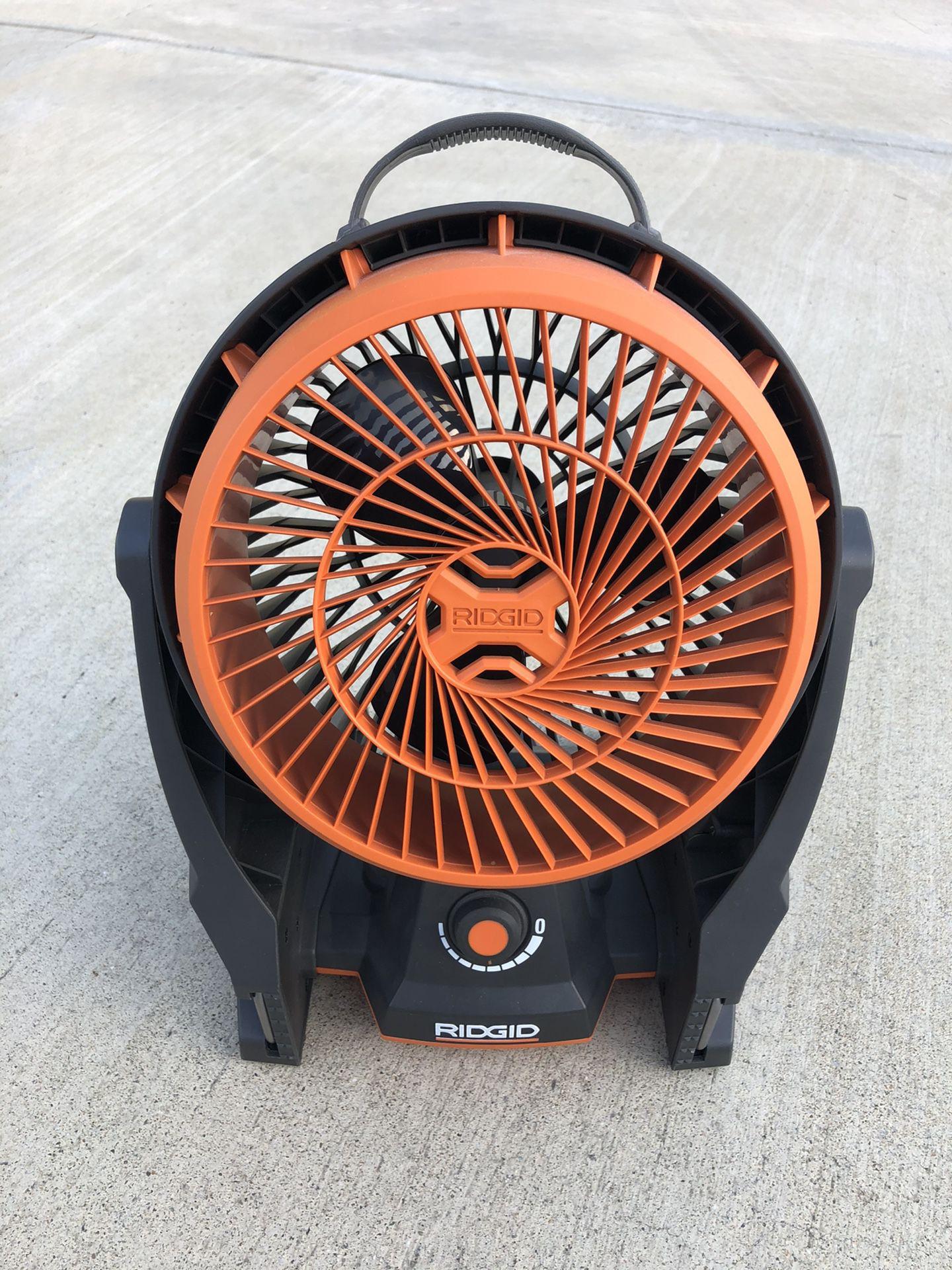 Ridgid 18 - Volt Hybrid Fan.