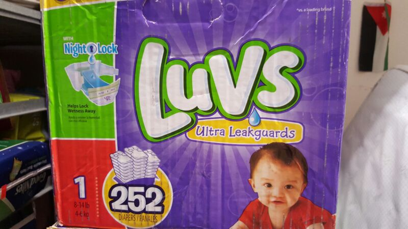 Luvs diapers size 1 count 252