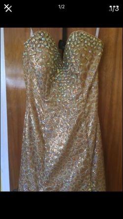 Gold dress size 2 Thumbnail