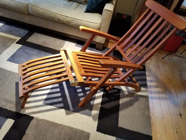 solid teak deck chair steamer chair boats marine in seattle