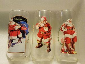 Vintage Santa Coke drinking glasses for Sale in Austin, TX