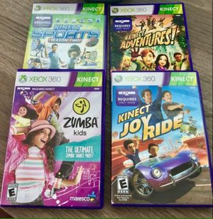 4 XBOX 360 Kinect Games for Sale in Elkridge, MD