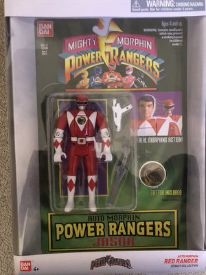 Mighty Morphin Power Rangers Auto Morphin Figure Red Ranger for Sale in Gaithersburg, MD