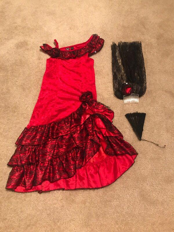 Flamingo dress Halloween costume - size 6-8