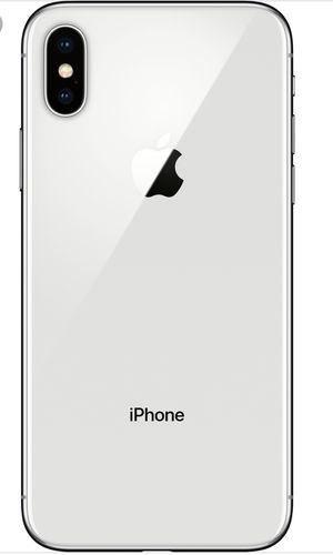 Apple iPhone X - 64GB Silver Unlocked for Sale in Rockville, MD