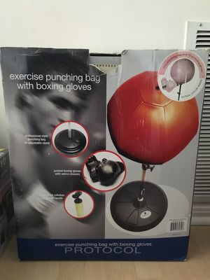 Pink punching bag with gloves for Sale in McLean, VA