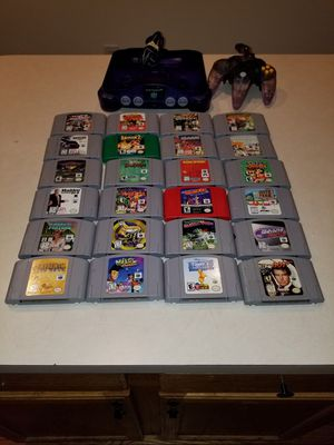 Nintendo 64 with 24 games for Sale in Gaithersburg, MD