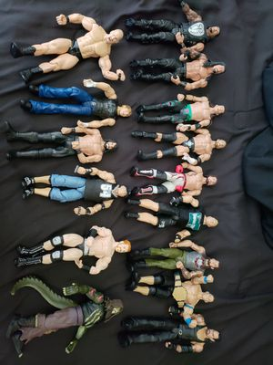 15 wwe action figures for Sale in Dallas, TX