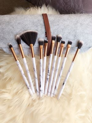 Ten pieces marble Makeup brushes set with felt bag for Sale in Silver Spring, MD