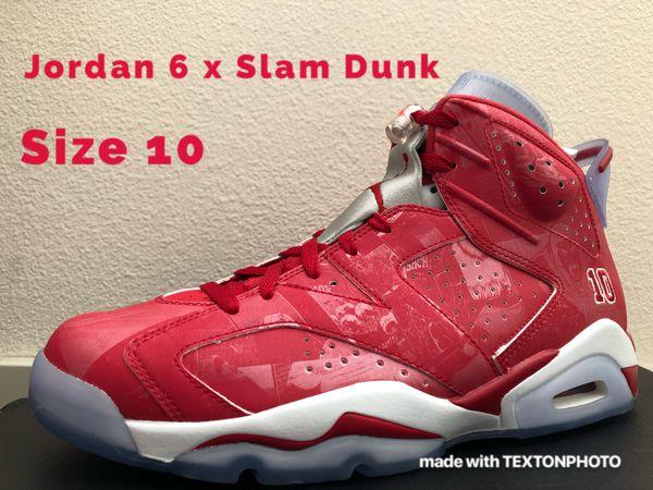 5a3f9cde8f0e Jordan 6 Retro x Slam Dunk - Size 10 - BRAND NEW for Sale in ...