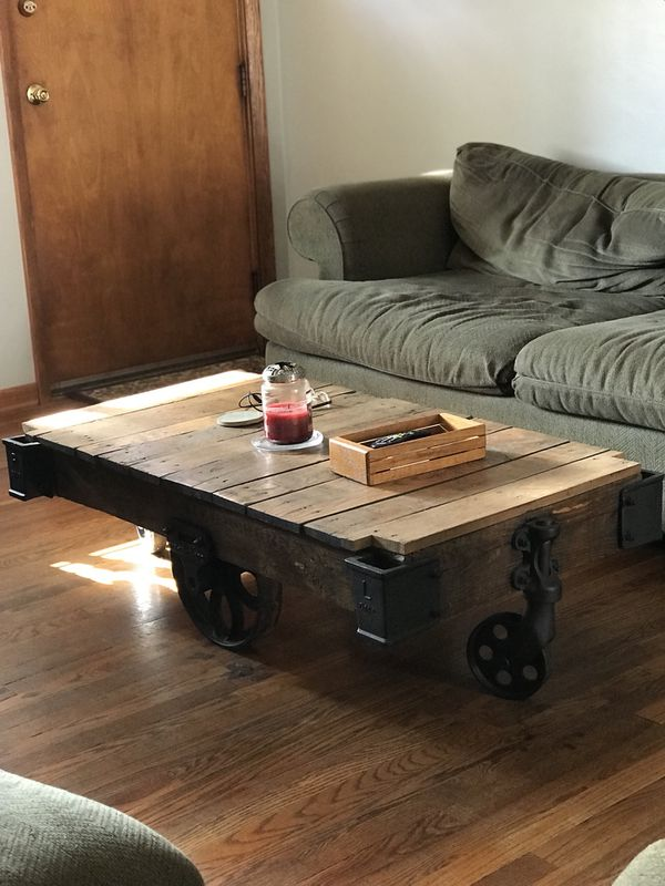 Amazing Railroad Cart Coffee Table For Sale In Youngstown Oh Offerup Interior Design Ideas Tzicisoteloinfo