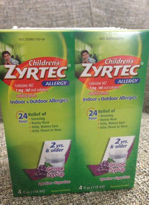 One Pack of 2 Bottles Children's ZYRTEC. Please See All The Pictures and Read the description for Sale in Falls Church, VA