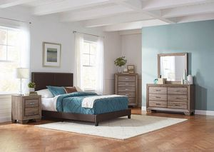 4-Pc Queen size Upholstered bedroom set. Available in different sizes. Special offer for Sale in Orlando, FL