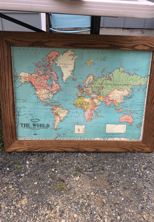 world map that you can put pins in for sale in lake stevens wa