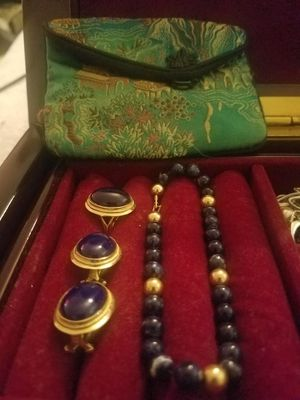 14k gold with blue Jade Set! for Sale in Fairfax, VA