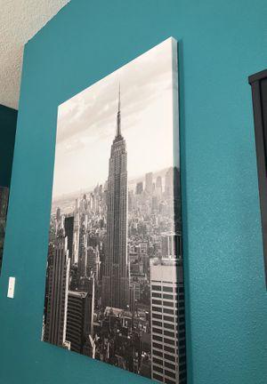 Empire State Building canvas 47 inches x 31 1/2 inch for Sale in Orlando, FL