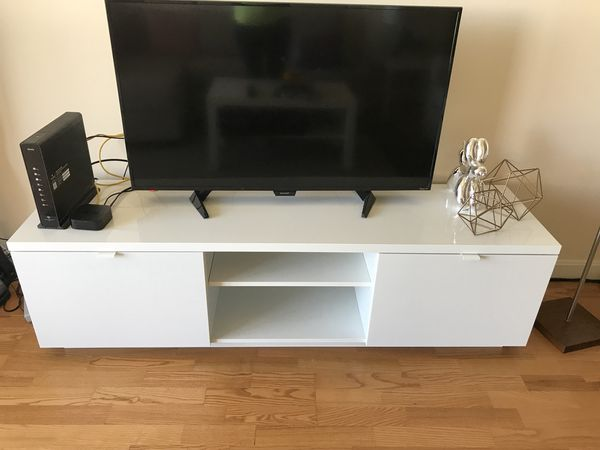 42105d7f1d0 BYAS Tv Unit (Ikea) - High Gloss white for Sale in Cambridge