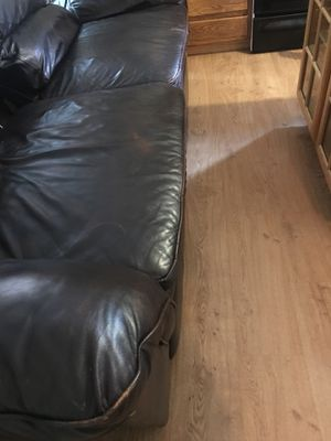 Leather sofa recliner for Sale in Gaithersburg, MD