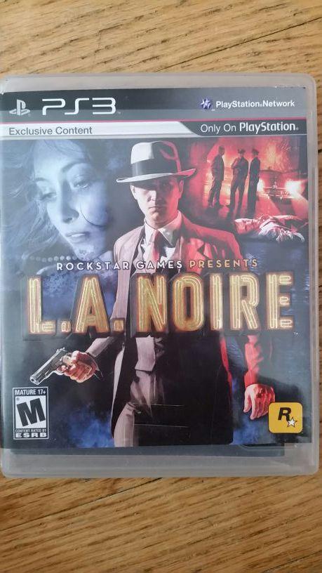 Ps3 game l.a. noire