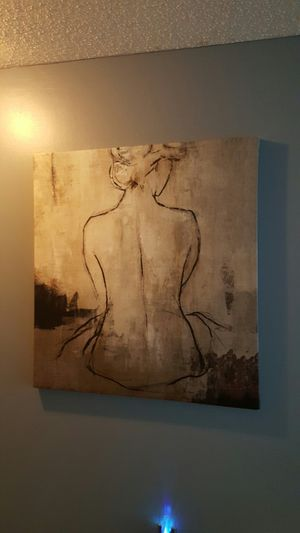 Z Gallery painting. Lady at spa for Sale in Ashburn, VA