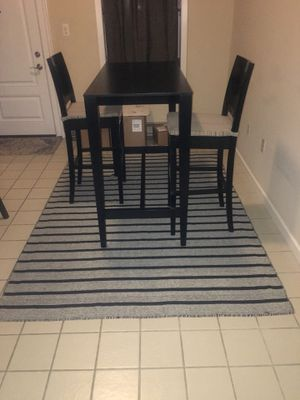 Black and grey striped area rug for Sale in Baltimore, MD