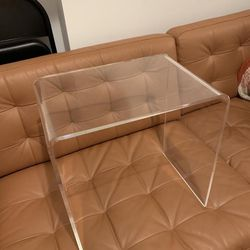 Two Acrylic End Tables  Thumbnail