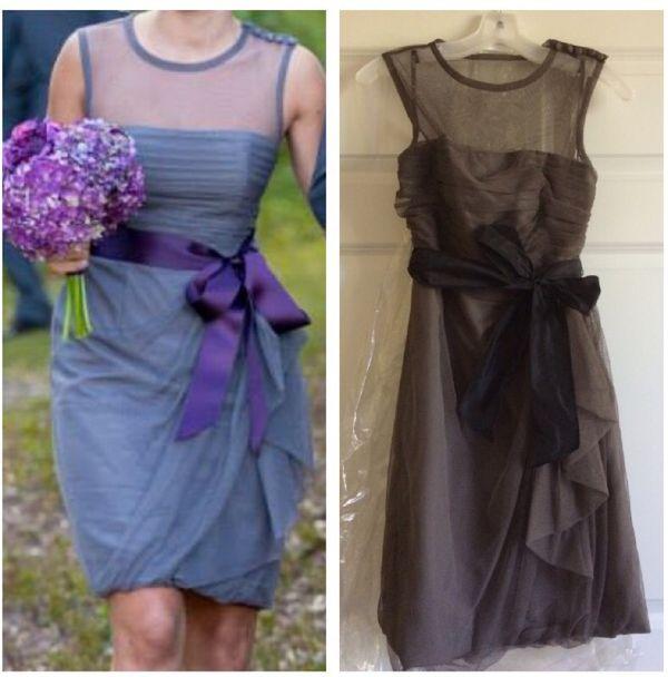 a7c22f2cb357e Vera Wang Charcoal Bobbin Net Dress for Sale in Nashua