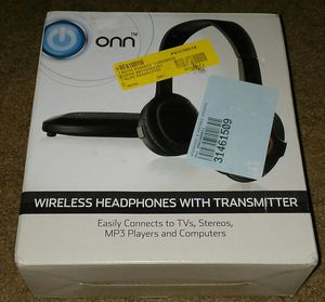 Onn- wireless Headphones with Transmitter. for Sale in Orlando, FL