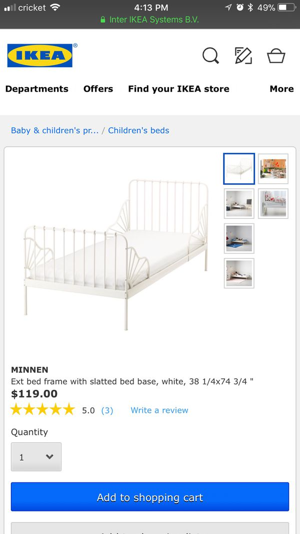 IKEA Minnen Bed AND Extendable Mattress