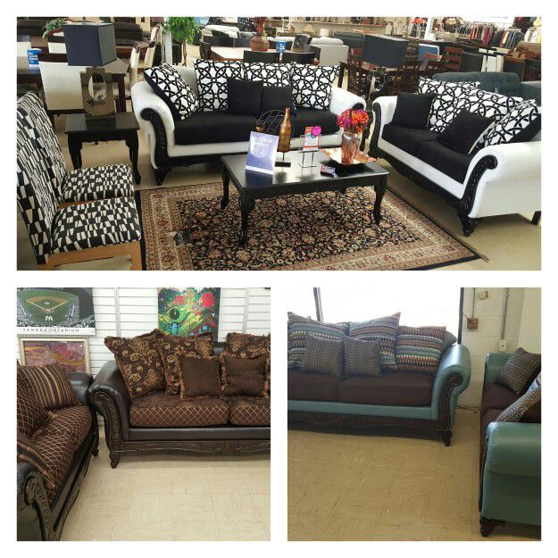 New Sofa and loveseat sets - 6 colors