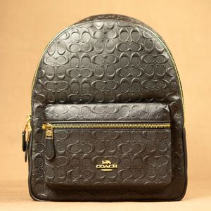 Photo Coach Signature Leather Backpack
