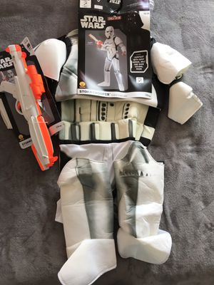 Disney STAR WARS STORMTROOPERS Children's Halloween Boys Costume with BLASTER Size LARGE 10-12 for Sale in Alexandria, VA