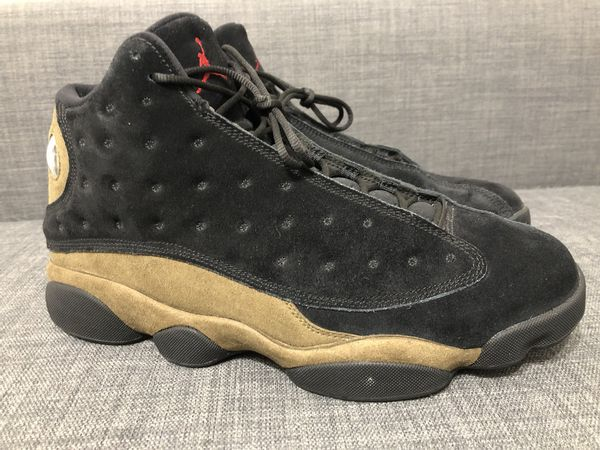 ecc979a340ad44 Nike Air Jordan 13 Retro Olive Size 12 Mens Black Gym Red Light Olive