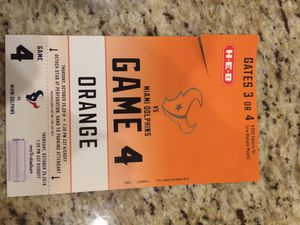 Texans vs Miami Dolphins Orange Parking Pass for Sale in Houston, TX