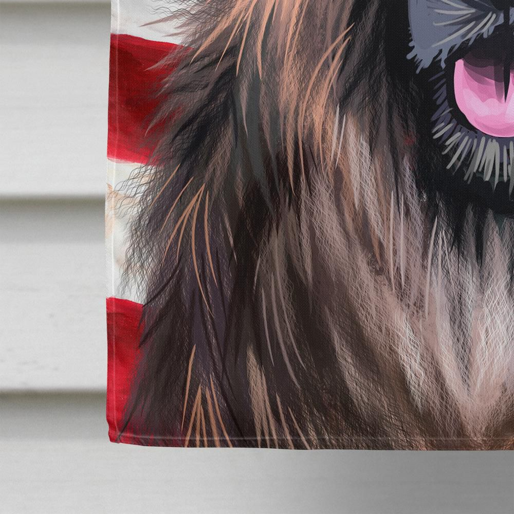 Caroline's Treasures CK6518CHF Estrela Mountain Dog American Flag Flag Canvas House Size , Large, multicolor