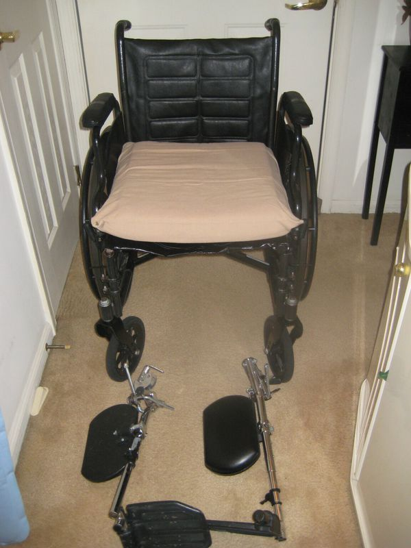 Invacare Wheelchair with legs and cushion for Sale in Chesapeake, VA ...