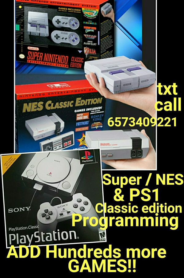 Super Nintendo and NES Classic edition PROGRAMMING MODS ADD MORE GAMES TO  YOUR SYSTEM *not selling systems* for Sale in Las Vegas, NV - OfferUp