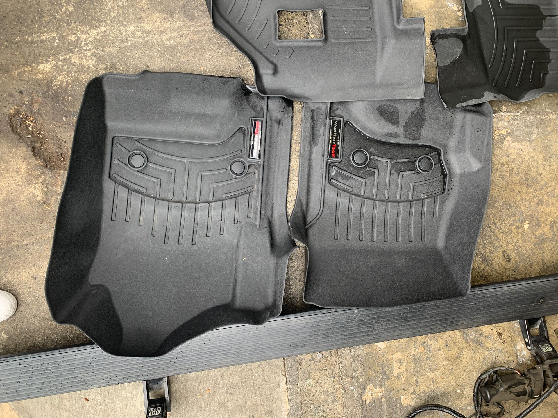Electric Running Boards and WeatherTech mats