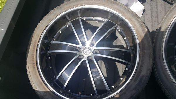 24 Inch Rims 4 Sale 35000 Obo Has Scatches And Dents Tires Are