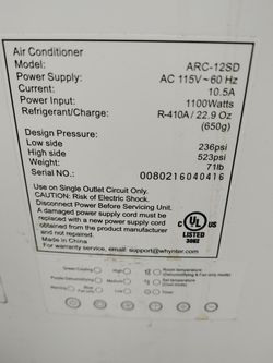 """Whynter Air Conditioner In Excellent Condition. """" No Hoses"""" Thumbnail"""