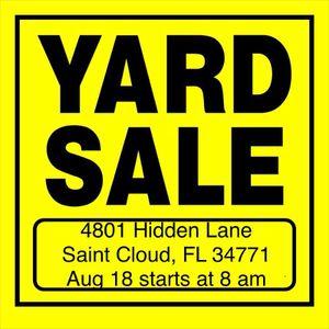 Yard Sale Aug 18. Furniture, Clothing, etc. for Sale in Saint Cloud, FL