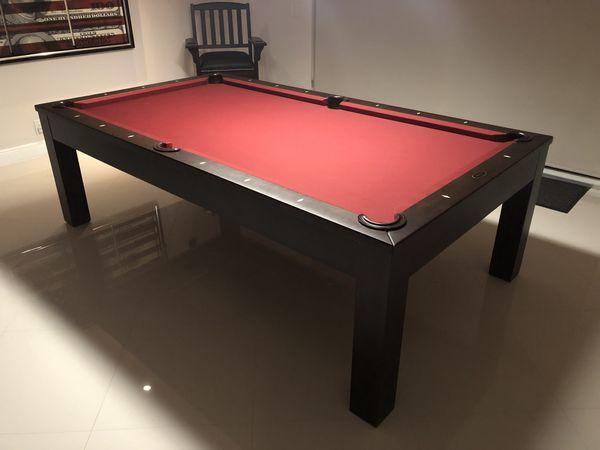 daylin dining 8 pool billiards table w dining top