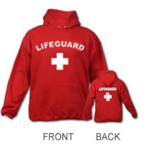 949c398fdcc Red lifeguard hoodie for Sale in Newport Beach